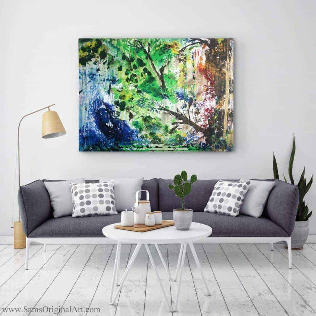Abstract Modern Giclee Print Title: Growth