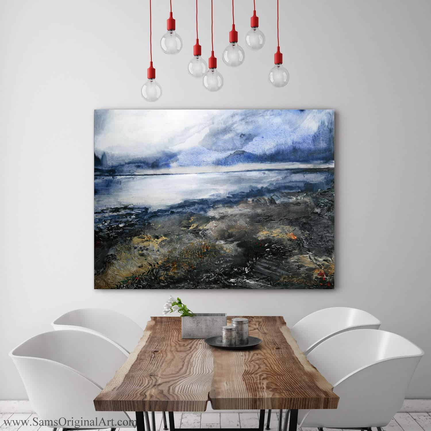 Giclee Wall Print Title: Winter Beach