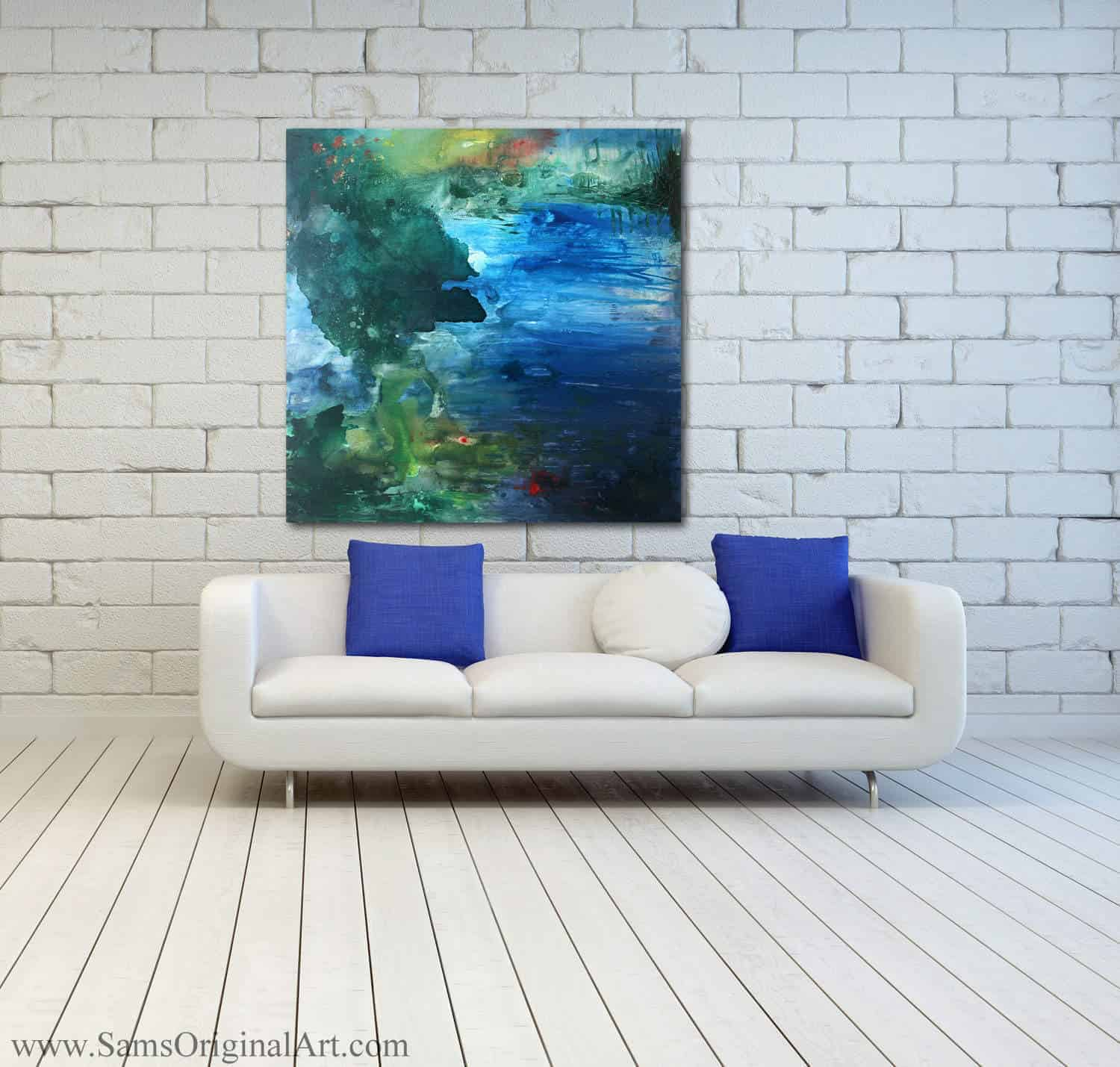 Modern Giclee Wall Print Title: Immersion