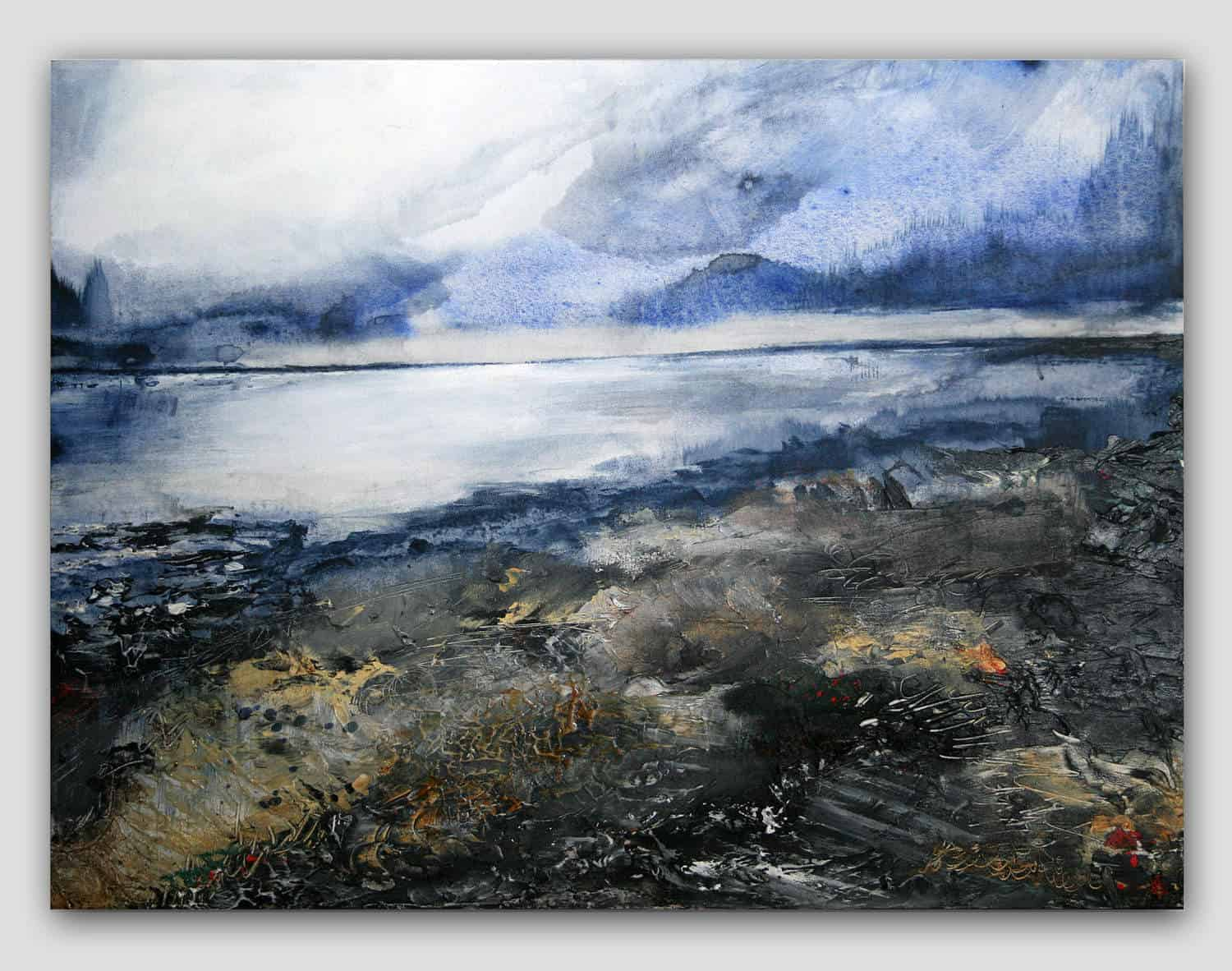 Giclee Print Title: Winter Beach
