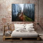Bedroom Giclee Wall Print Title: Ashes to Wildflowers