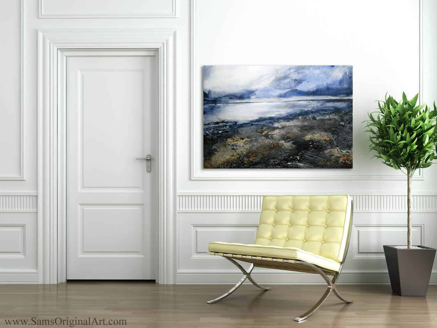Modern Giclee Print Title: Winter Beach