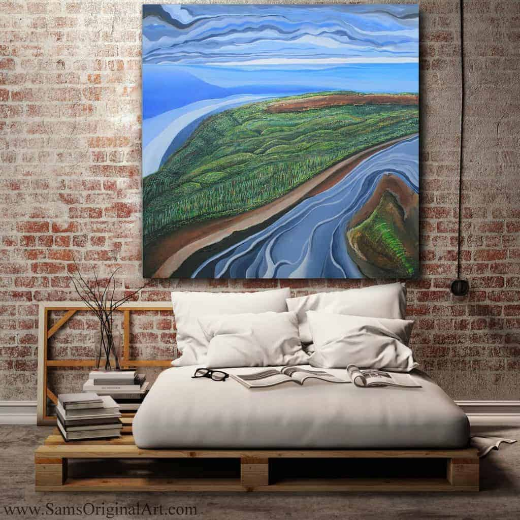 Bedroom Giclee Canvas Print Title: Endowment Lands