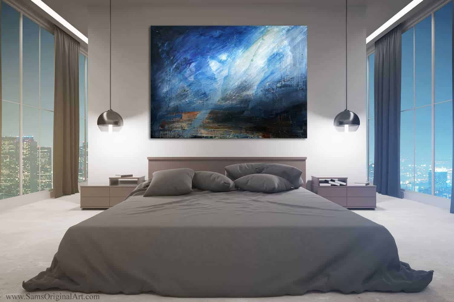 Bedroom Giclee Wall Print Title: Cerulean