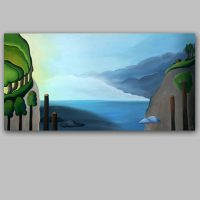 simple abstract landscape paintings