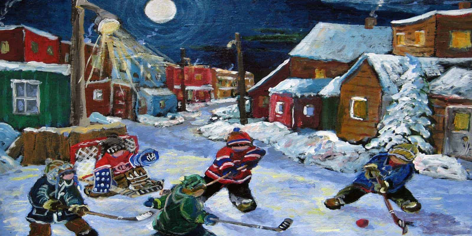 Richard Brodeur-hockey-painting