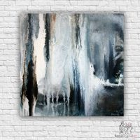 blue and white abstract paintings