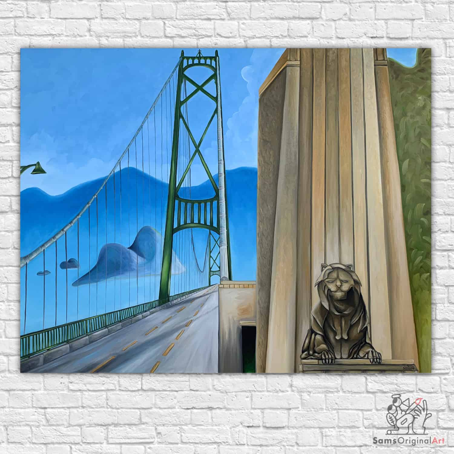 Painting of the lions gate bridge