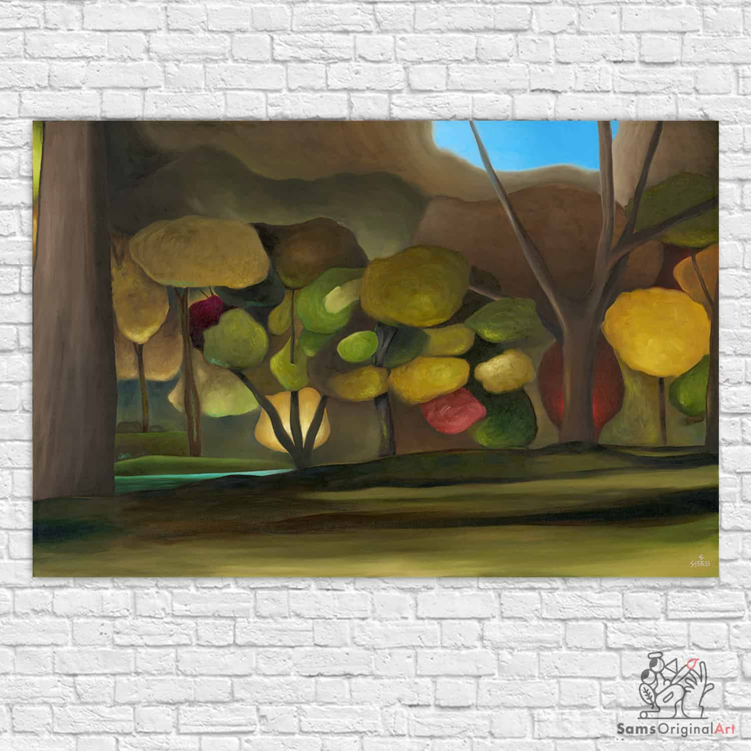 Jericho Duck Pond Painting