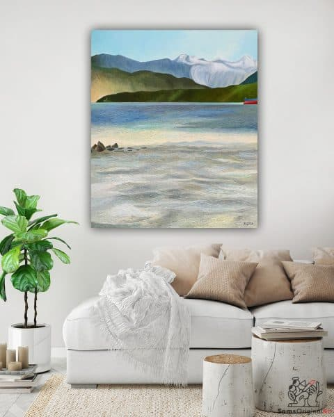 Vancouver beach painting